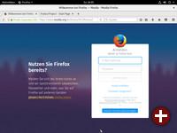 Erster Start von Firefox