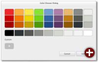 Farbauswahldialog von GTK+ 3.4