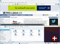 Fedora 22 mit Konqueror