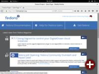 Fedora-Startseite in Firefox