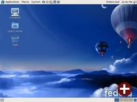 Desktop von Fedora 7