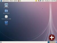 Fedora 8 unmittelbar nach dem Login