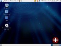 Fedora 9 unmittelbar nach dem Login