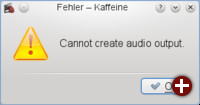 Fehler bei belegtem Audiogerät