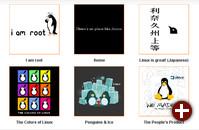 Finalisten des linux.com-T-Shirt-Design-Wettbewerbs