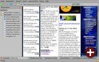 Firefox mit Suchleiste und Pro-Linux-RSS