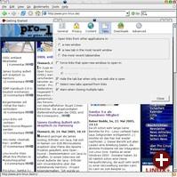 Firefox 1.1 Deer Park Alpha 1 mit neuer Anordnung des Einstellungen-Dialogs