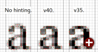 Freetype 2.7: Vergleich der Font-Darstellung verschiedener Engines