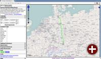 Fußweg vom Jungfernstieg in Hamburg zum Englischen Garten in München gemäß OpenStreetMap