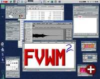 Der Siegeszug von Linux beflügelte auch XFree86. Hier FVWM2