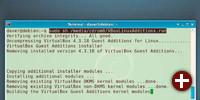Dieser Befehl installiert die Gasterweiterungen in Debian 7