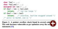 GCC-Optimierung Pointer-Overflow