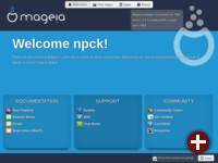 Geplanter Begrüßungsbildschirm für Mageia 4
