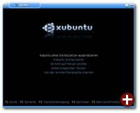Gestartete Xubuntu-CD in KVM