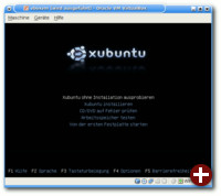 Gestartete Xubuntu-CD in VirtualBox