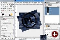 Die verbesserte Oberfläche von Gimp 2.2 und die Vorschau beim Drehen eines Bildes