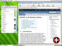 Desktop von GNOME 2.28