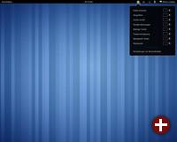Der Standarddesktop von Gnome 3.0