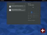 Gnome 3.16 mit Kalender und Benachrichtigungen