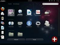 Gnome-Shell mit Starter und Suche 2012