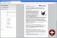 Google Chrome 13 mit Druckvorschau