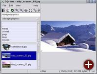 GQview mit Vorschaugrafiken (Thumbnails)