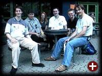 Das (nicht ganz vollständige) Pro-Linux-Team von links nach rechts: Stephan Tijink, Michael Flaig, Diana Förster, Mirko Lindner (demon), Hans-Joachim Baader (hjb), Pawel Deska