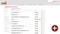 Gruppenverwaltung im invis Portal
