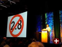 Guido van Rossum bei der Keynote der PyCon 2014