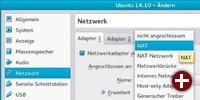 Netzwerkoptionen von VirtualBox