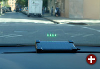 Head-Up-Display mit Solar-Stromversorgung
