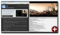 i3 im Einsatz mit Firefox, ROXTerm und MPlayer