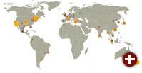 In Piwik 1.11 zeigt die Real Time Visitor World Map, woher die letzten Besucher kommen