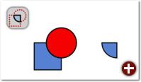 Überschneidung: Der Bereich, in dem sich die beiden Objekte überschneiden, bleibt übrig