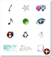 Von einfachen Objekten über Buttons/Icons mit Farbverläufen bis hin zu komplexen Bildern mit Schattierungen oder vektorisierten Zeichnungen und noch vieles mehr lässt sich mit einer Vektorgrafik darstellen