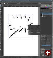 Inkscape-kompatible Vektorgrafik in Krita 4.0