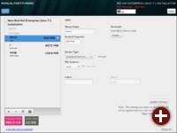 Installation von Red Hat Enterprise Linux 7.1: Partitionierung