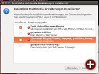 Installation von zusätzlichen Multimedia-Codecs