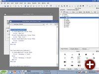 Die KBasic-Entwicklungsumgebung unter KDE