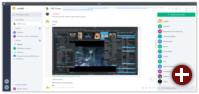 KDE-Chat im Client Riot
