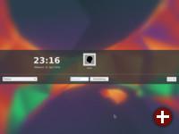 Login-Bildschirm von Kubuntu