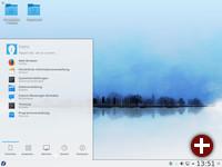 KDE Plasma mit Startmenü