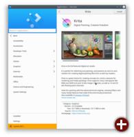KDE Plasma 5.12 - Anzeige von Anwendungen in Discover