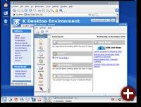 Der Desktop des neuen KDE 3.5