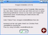 Der Startbildschirm des Knoppix-Installers