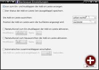 Konfigurationsdialog von Barlesque