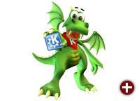 Konqi, das KDE -Maskottchen