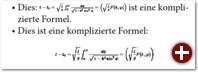 Die Formeln werden nicht gut skaliert