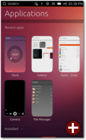 Laufende Apps