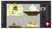 Level-Editor der PlayCanvas-Engine